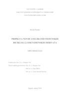 Priprava novih aneliranih tiofenskih biciklo[3.2.1]oktadienskih derivata