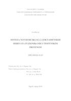 prikaz prve stranice dokumenta Sinteza novih biciklo[3.2.1]oktadienskih derivata fuzioniranih s tiofenskim prstenom