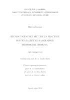 prikaz prve stranice dokumenta Kromatografske metode za praćenje fotokatalitičke razgradnje hidroksiklorokina
