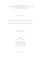 prikaz prve stranice dokumenta Modeliranje i simulacija šaržnog procesa