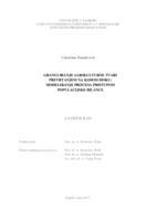 Granuliranje agrikulturne tvari prevrtanjem na kosom disku: modeliranje procesa pristupom populacijske bilance